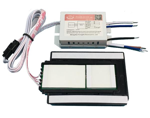 LED灯镜触摸开关(2路3段) XD-632