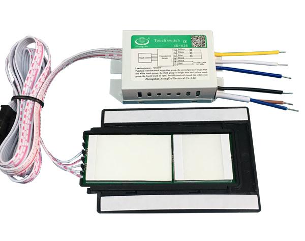 LED灯镜触摸开关(3路4段) XD-635