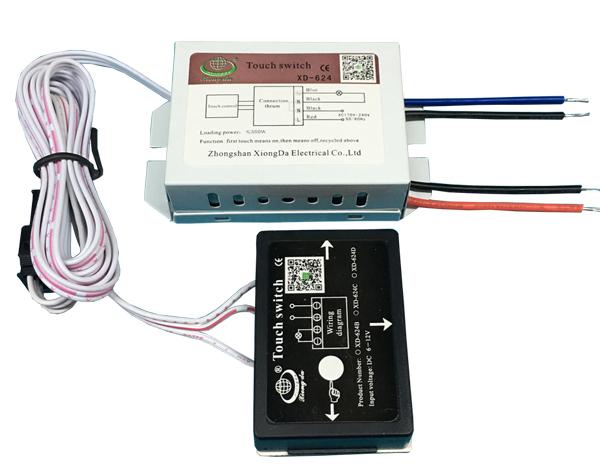 木材触摸开关XD-624(220V ON/OFF)